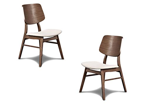 Set of two wooden back chairs