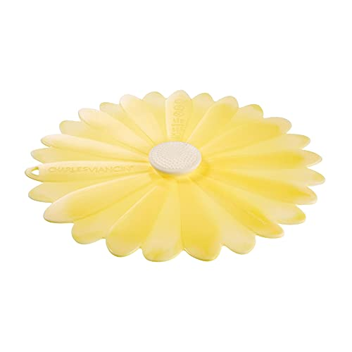 Charles Viancin - Couvercle Daisy en Silicone - 15 cm - Couvercle Hermétique pour Stocker et Cuisiner vos Aliments - Sans BPA - Compatible Four, Micro-Ondes, Congélateur, Cuisinière et Lave-Vaisselle