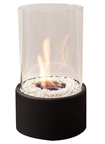 Bio-ethanol tafelhaard incl. accessoires binnen buiten binnen buiten vlammenspel glazen vuur tafelvuur kamerhaard decoratieve vuur vuur vlammenspel vuurschaal glas metaal