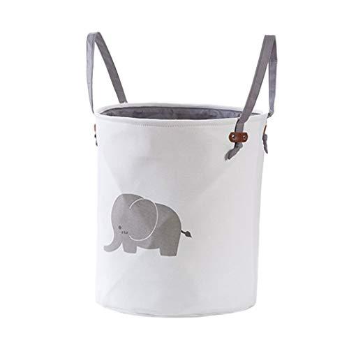 RWX Foldable Large Capacity Laundry Hampers Cartoon Laundry Baskets Clothing Toy Storage Basket, 14.17'*15.74' (Color : Cartoon elephant)