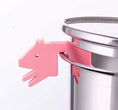 Soporte para tapa de olla de cerdo, rosa, de silicona, accesorio para...