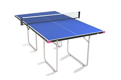 Butterfly Junior Ping Pong Table | 3/4 Size Table Tennis Table | Folding Ping Pong Table with Wheels...
