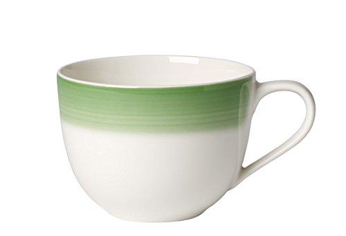 Villeroy & Boch Colourful Life Green Apple Kaffeetasse, Premium Porzellan, Weiß, 0.23 l