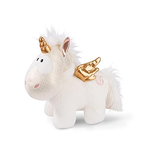 NICI 46374 Angelia el Suave 32 cm – Juguetes, niños y bebés – Peluches esponjosos para abrazar y Jugar – Unicornios tiernos – Theodor & Friends, Blanco/Oro, Color Dorado