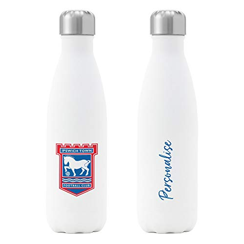 Official Personalised Ipswich Town FC Crest Insulated Water Bottle - White