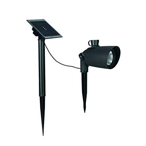 Duracell Solar LED-Strahler für den Garten, mit separatem verdrahtetem Solarpanel, 45 Lumen, Schwarze Kunststoffoberfläche (1 Stück)