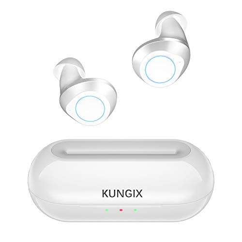 [Upgraded] Bluetooth Kopfhörer in Ear, KUNGIX True Wireless Sport Kabellos Noise Cancelling Mini Earbuds Inear HiFi-Klangqualität Ohrhörer Sportkopfhörer earpods für Android iOS