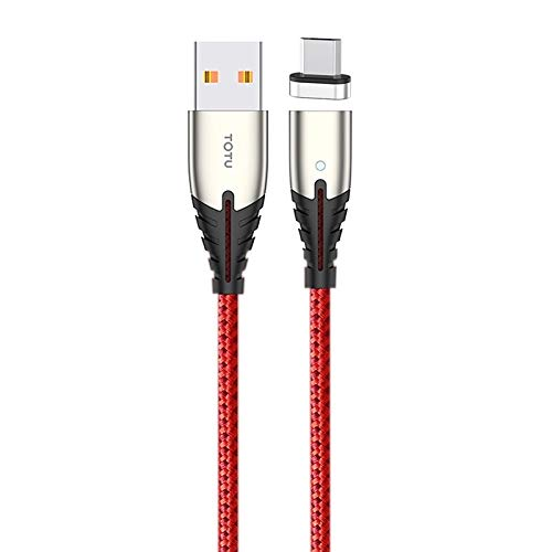 GUO USB Kabel BMA-027 Donner Serie Micro USB Automatische Adsorption Magnectic-Ladekabel, Länge: 1,2 m (Color : Red)