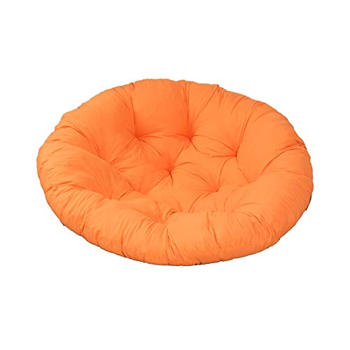 YYEWA Papasan Patio Chair Cushion Thicked Egg Seat Cushions Hanging Egg Hammock Swings Chair Pads Mats for Indoor Outdoor,Orange,S