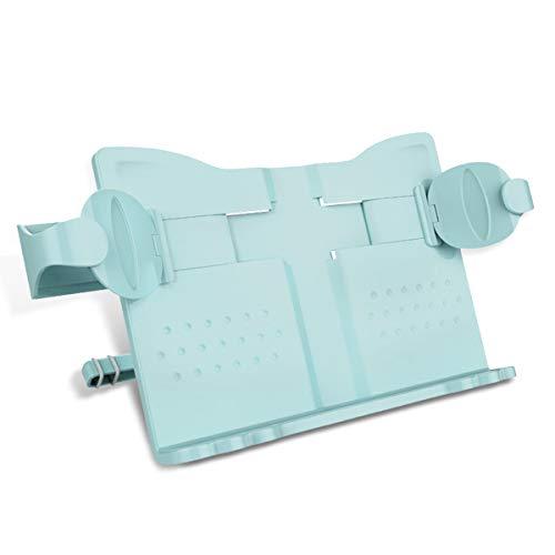 MARSACE ブックスタンド 書見台 折りたたみ 読書台 譜面台 本立て 視力保護 姿勢?正 肩こり解消 移動式 プラスチック ブルー
