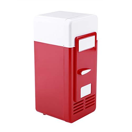 Sutinna Mini réfrigérateur Portable, Mini réfrigérateur USB Boissons Canettes de Boissons Réfrigérateur et Chauffage pour Garder Les Boissons Froides au Frais et Les Boissons Chaudes au Chaud(Red)