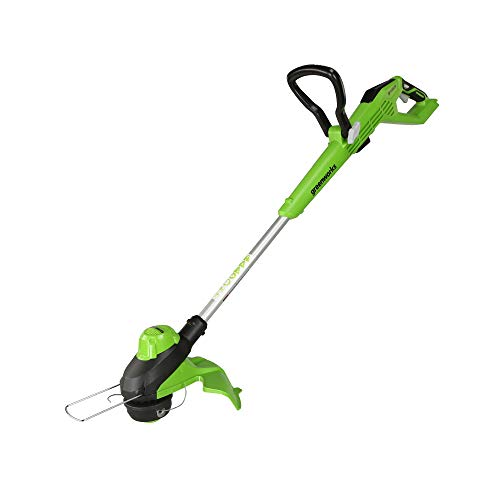 Greenworks 24V 13-inch Brushless TORQDRIVE String Trimmer, 4Ah USB (Power Bank) Battery and Charger Included ST24L410