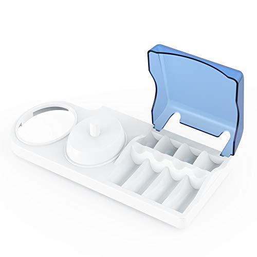 Portaspazzolino per spazzolini elettrici. Supporto Poketech per spazzolino Oral B, 4 testine e un caricabatterie.