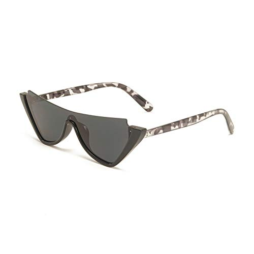 Gafas de Sol Gafas De Sol Semi Sin Montura De Ojo De Gato De Moda Simple para Mujer, Pieza Vintage, Gafas De Champán Azules, Gafas De Sol Populares para Hombre C2