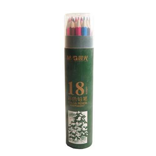 LINLLF Marker Pen Lápiz de Color de Madera Lápiz de Color de Arco Iris de Madera para Pintura de Dibujo de Graffiti de Escuela Infantil, 18 Colores, 18 Colores