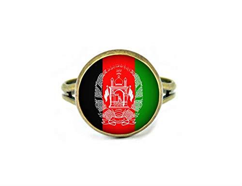 Xubu Nationale Symbool Vlag Sieraden, Afghaanse Vlag Ringen, Nationale Vlag Ringen