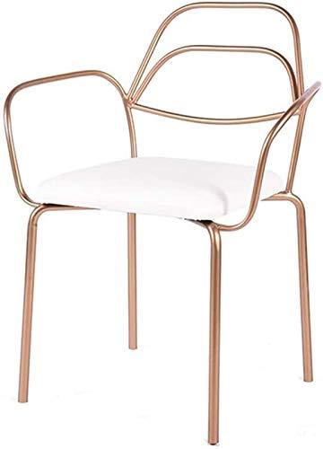 MCE Nordic Creative Leisure - Silla de comedor (hierro forjado, dorado, sencilla,...