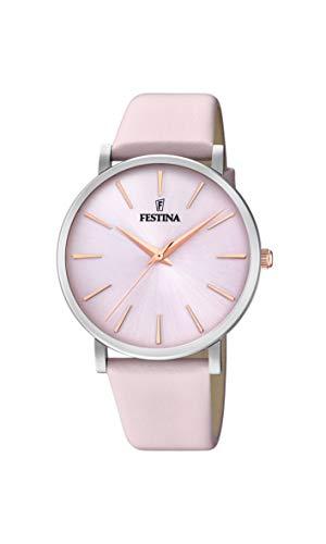 Festina Damen Analog Quarz Uhr mit Leder Armband F20371/2