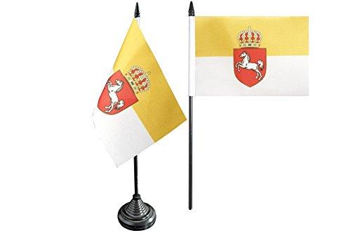 Flaggenfritze® Tischflagge Deutschland Königreich Hannover 1814-1866 - 10 x 15 cm
