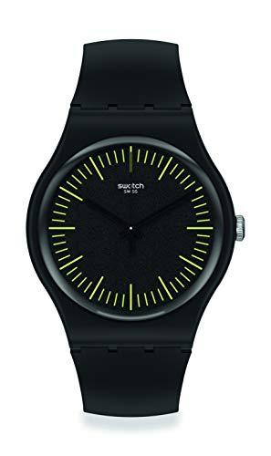 Swatch orologio BLACKNYELLOW 41mm Originals New Gent SUOB184