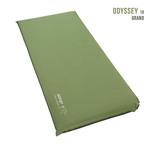 Vango Odyssey Selbstaufblasende Schlafmatte, Epsom Green, 10cm