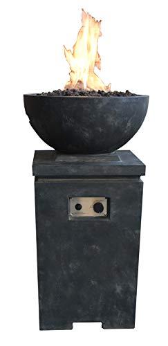 Kaminlicht Gas-Feuerstelle Kupe Beton-Optik aus Faserbeton Garten Terrasse
