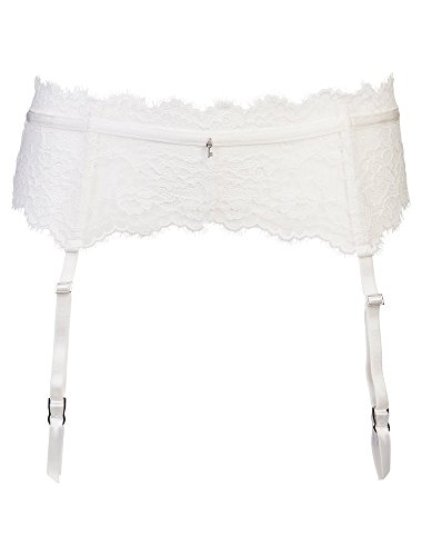 Sapph Lexy Lacy Suspender Riem/Garter S/M of L/XL - Off White
