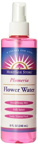 Heritage Store Moisturizing Mist, Plumeria Flower Water with Atomizer, 8 Ounce by Heritage Store