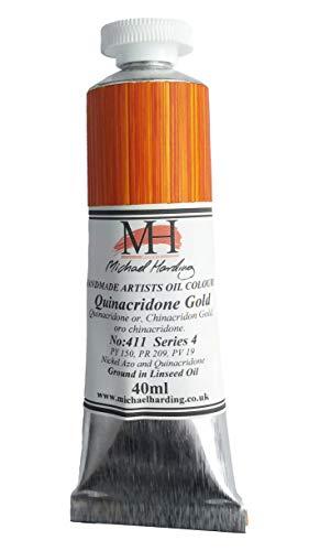 Michael Harding Artist Oil Colours, Quinacridone Gold, 40ml Tube, 41140