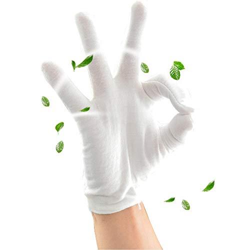 6paires à la main hydratant Gants, Blanc Coton à la main de protection Gants de doublure pour manucure travail hydratant