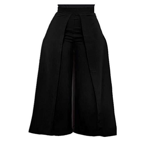 LILIZHAN elegante hoge taille vrouwen broek herfst winter wit zwart kantoor Baggy lange rug rits brede been broek