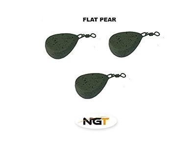 x 3 flat pear carp fishing weights 2.0oz carp/coarse fishing by ngt