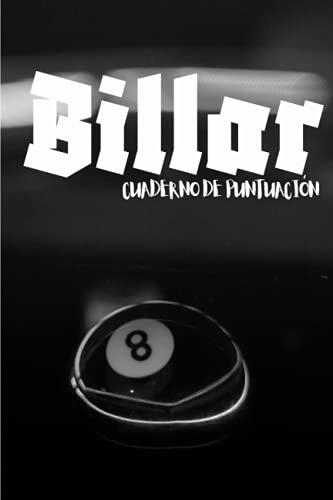 Billar cuaderno de puntuación: Cuaderno de entrenamiento de billar | cuaderno para todos aquellos que quieran mejorar en el campo del billar | un ... transportable tamaño 6 * 9 | 100 páginas