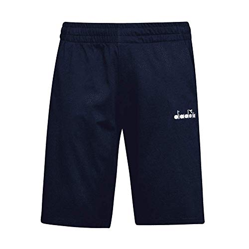 Diadora Short-Core-Hose für Herren, kurze Hose aus Baumwolle, Größe XXL, Farbe: Blau