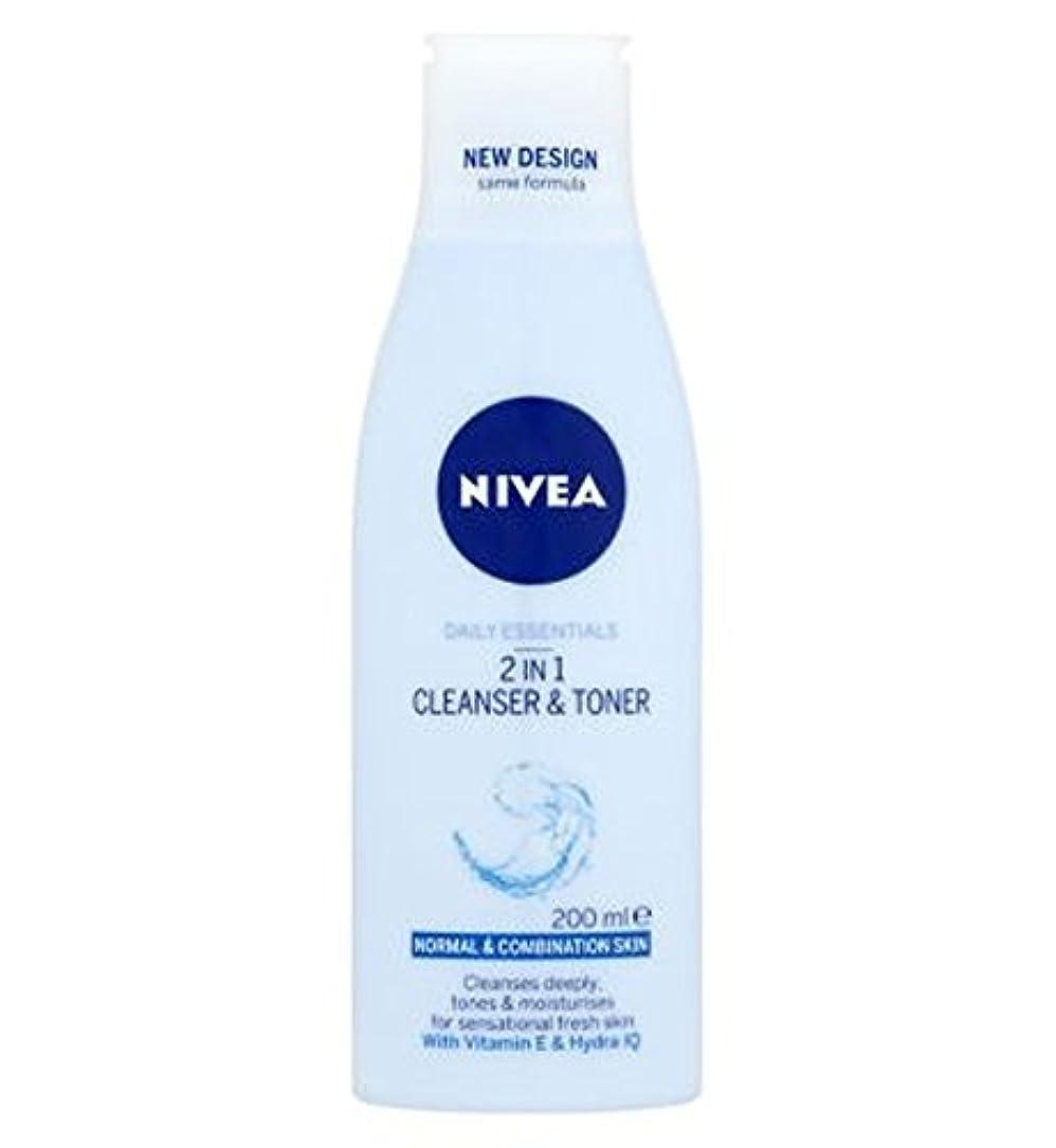 シェードセンター時計回りNivea Daily Essentials 2 in 1 Cleanser and Toner 200ml - ニベア生活必需品2 1クレンザーとトナー200ミリリットルで (Nivea) [並行輸入品]