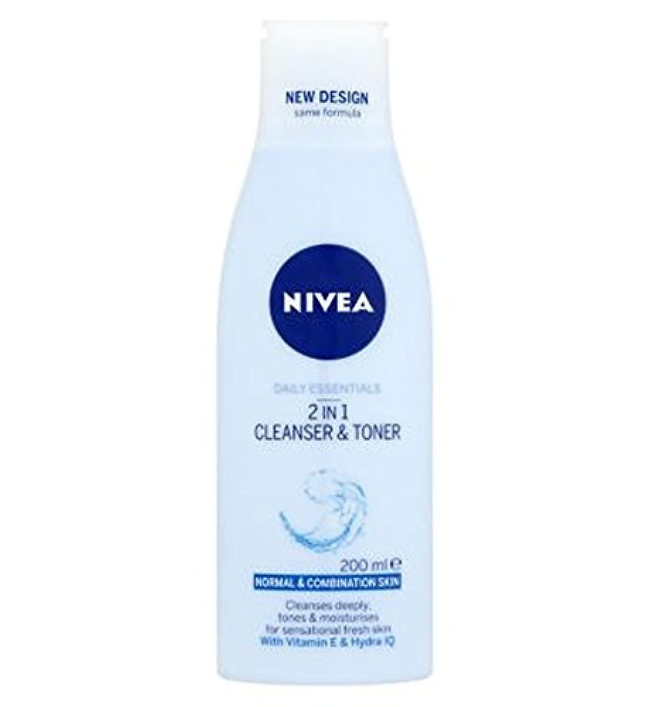 有利クリープ失Nivea Daily Essentials 2 in 1 Cleanser and Toner 200ml - ニベア生活必需品2 1クレンザーとトナー200ミリリットルで (Nivea) [並行輸入品]