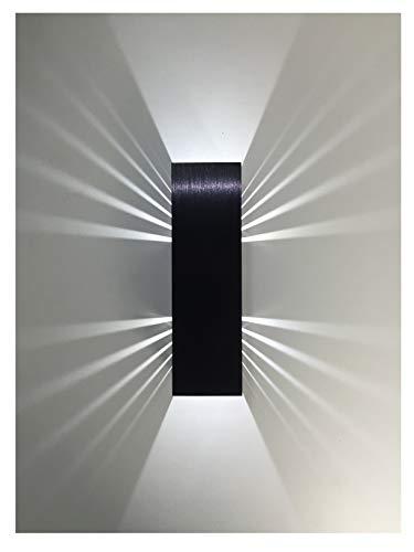 SpiceLED applique   BlackEdition   ShineLED-6   2x3W bianco   Effetto ombra   Lampada da parete a LED ad alta potenza dimmerabile