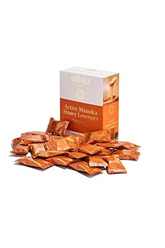 KORU ACTIVE MANUKA - HONIG LUTSCHBONBONS MGO 800+ (UMF 20+) aus Neuseeland / 24 Lutschbonbons ohne Zucker 100% Natürlich, Aus 95% Premium Manuka Honig.