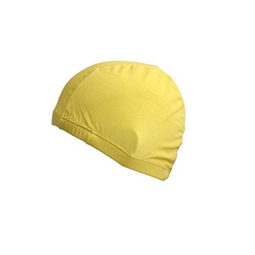 Good01, Cuffia Da Nuoto Unisex, Per Piscina E Spiaggia, Impermeabile, Elastica, In Nylon, Yellow, M