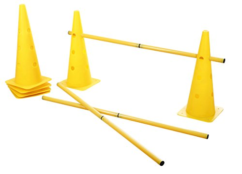 Kerbl Cone-Three Agility Hurdle Set, Giallo