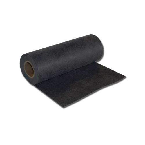 "Black Medium (1.8 oz) Firm Tearaway 23"" x 25 Yd Roll Embroidery Stabilizer"