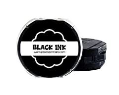Single color ink pads for the PSA Self-Inking Stamper Ink Color: Black - 9 other colors available Easy to use, pre-filled ink pad, child-safe (no ink bottles, no mess) Package dimensions : 1.0 inches (H) x 1.0 inches (L) x 1.0 inches (W)