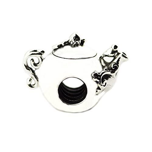 PANDOCCI 2018 Neue Frühling verzauberte Teekanne Perlen 925 Silber DIY passt für Original Pandora Armbänder Charm Modeschmuck