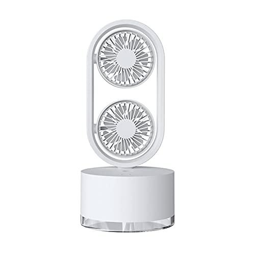 JIEPPTO Mini Ventilador De Aerosol De Escritorio Portátil, Refrigerador USB Recargable De Oficina En Casa, 3 Velocidades, Bajo Ruido, Productos De Verano (Color : White)