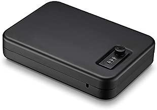 Younion Pistol Safe, Portable Travel Gun Safe,Handgun Lock Box, Gun Safes for Cars, Black