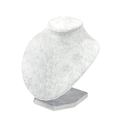 F Fityle Soporte de Exhibición de La Joyería Del Maniquí Del Estante de Exhibición Del Colgante Del Collar - tal como se describe, 15x15x12cm