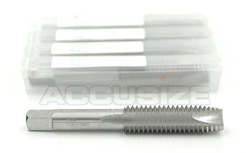 AccusizeTools - 1/2-13NC, 3 Flutes HSS Spiral Point Taps, 5 pcs/Package, ANSI Standard, Ground, SPT-1/2-13x5