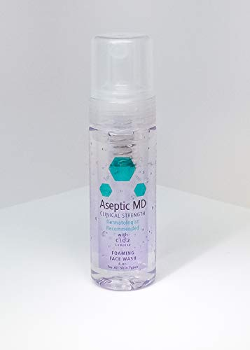 Aseptic MD Foaming Face Wash, Exclusive ClO2 Formula, Gentle, Hypoallergenic, Fragrance-free, For All Skin Types, Dermatologist-Recommended Chlorine Dioxide Complex Facial Cleanser 6.0 oz
