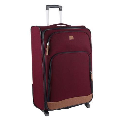 Rada T1 Upright Reisekoffer 2-Rollen-Trolley 75 cm Farbe Bordo 2 Tone Cognac