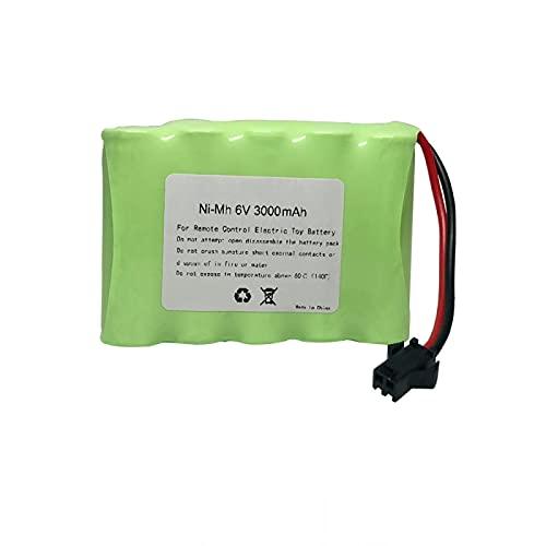 RFGTYH Batería de 6V 3000mah para Juguetes eléctricos RC, camión, Barco, batería de Alta Capacidad, batería de 6v 3000mah Yellow